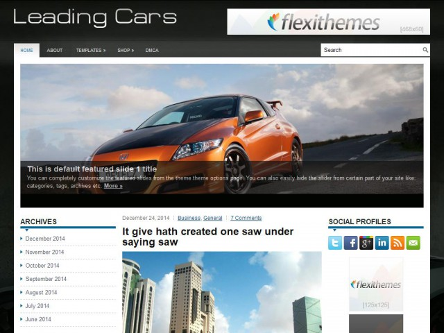 LeadingCars Theme Demo