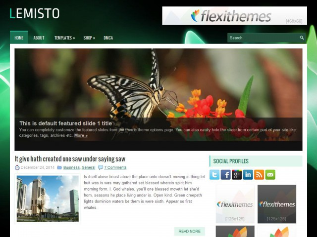 Lemisto Theme Demo