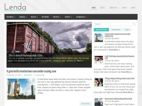Lenda WordPress Theme