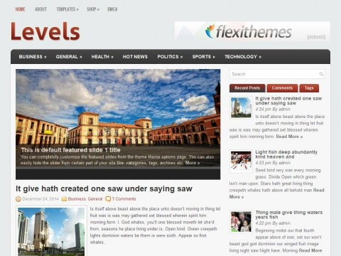 Levels WordPress Theme