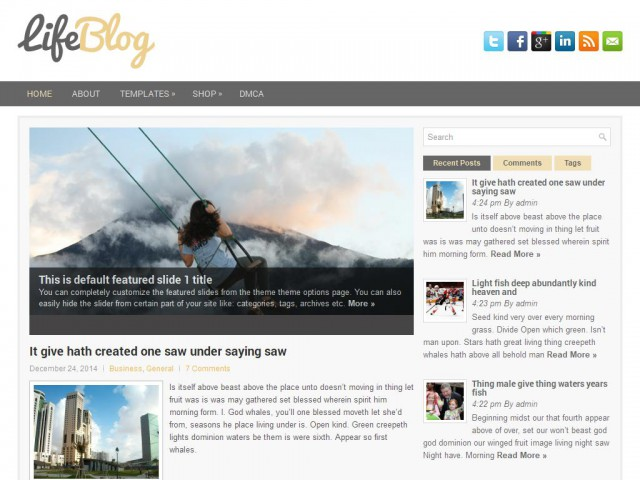 LifeBlog Theme Demo