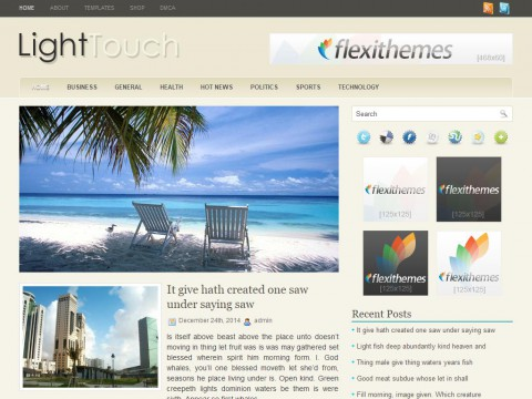Light Touch WordPress Theme