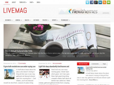 LiveMag WordPress Theme