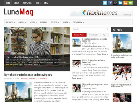 LunaMag WordPress Theme