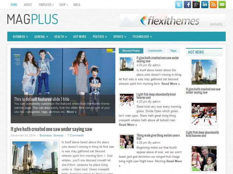 MagPlus - A Free News/Magazine WordPress Theme by FlexiThemes