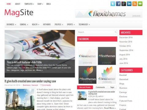 MagSite WordPress Theme
