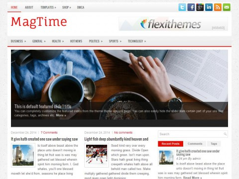 MagTime WordPress Theme