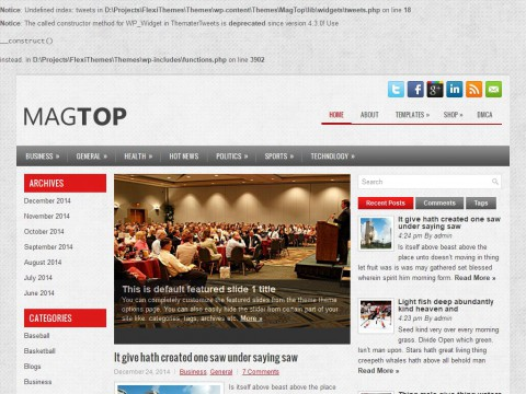 MagTop WordPress Theme