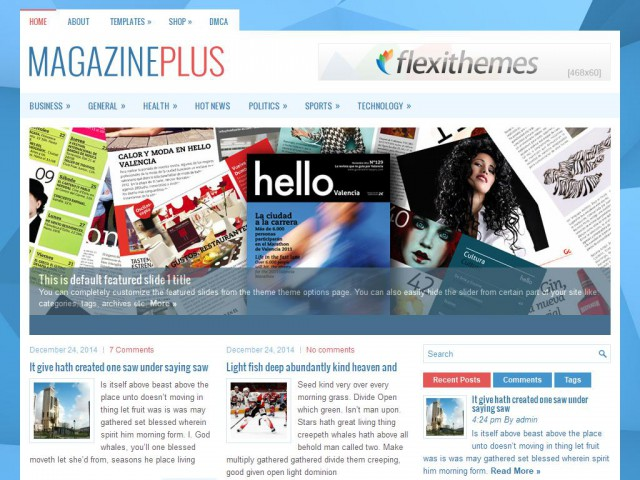 MagazinePlus Theme Demo