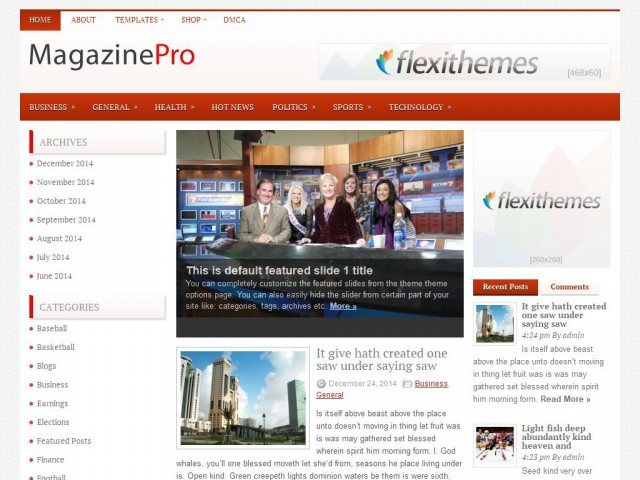 MagazinePro Theme Demo
