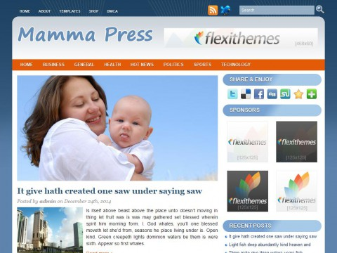 Mamma Press WordPress Theme
