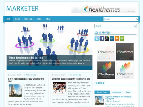 Marketer WordPress Theme