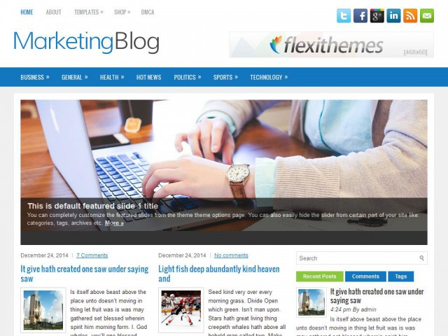 MarketingBlog Theme Demo