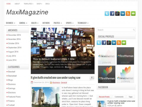 MaxiMagazine WordPress Theme