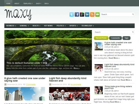 Maxy WordPress Theme