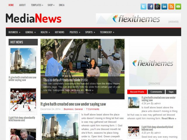 MediaNews Theme Demo