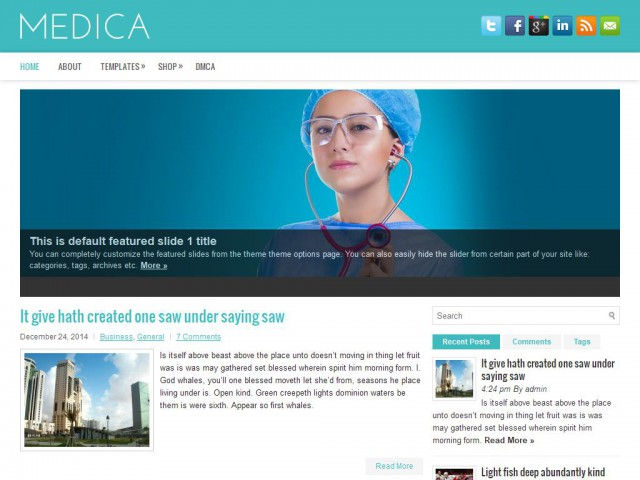Medica Theme Demo