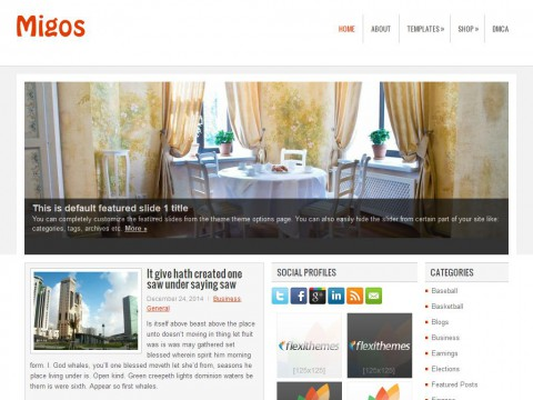 Migos WordPress Theme