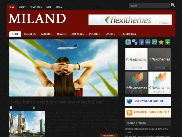 Miland Theme Demo