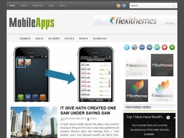 MobileApps Theme Demo
