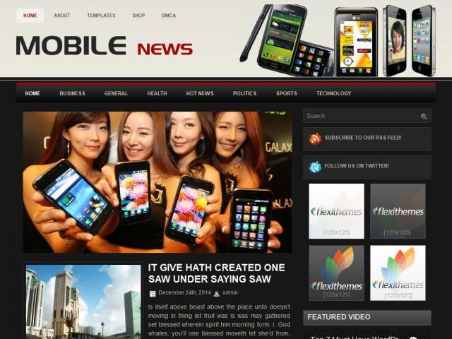 MobileNews Theme Demo