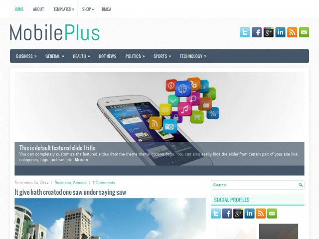 MobilePlus Theme Demo