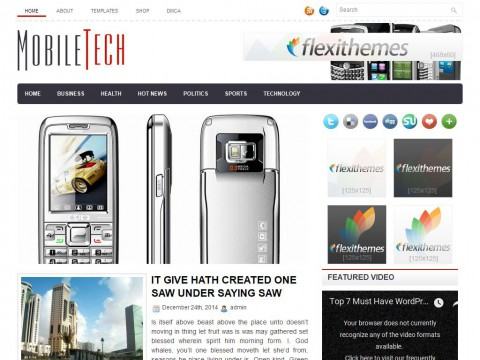 MobileTech WordPress Theme