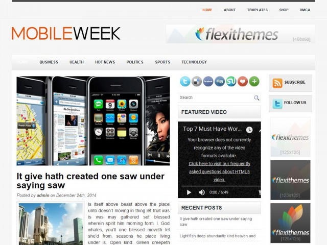MobileWeek Theme Demo