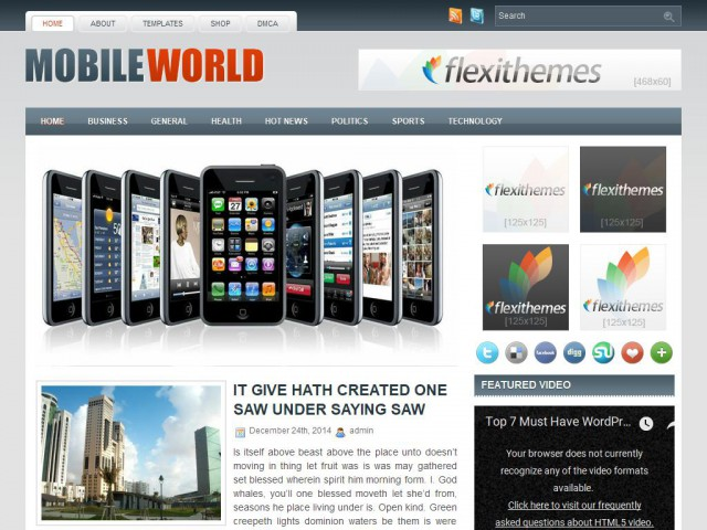 MobileWorld Theme Demo
