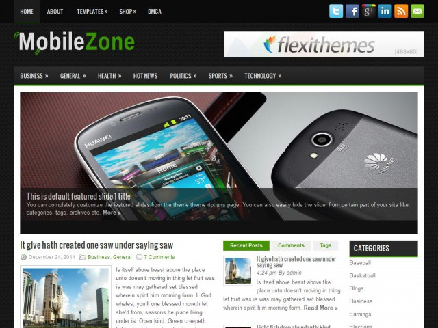 MobileZone Theme Demo