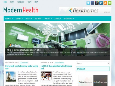 ModernHealth WordPress Theme