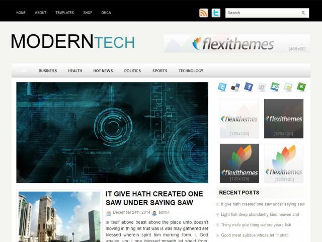 ModernTech Theme Demo