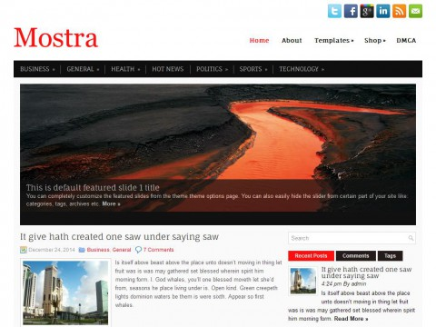 Mostra WordPress Theme