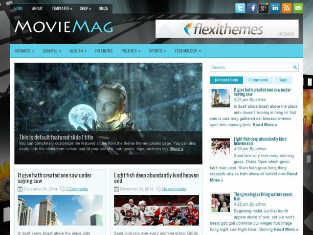 MovieMag Theme Demo