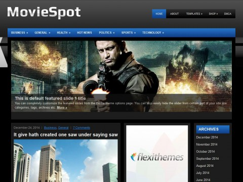 MovieSpot WordPress Theme
