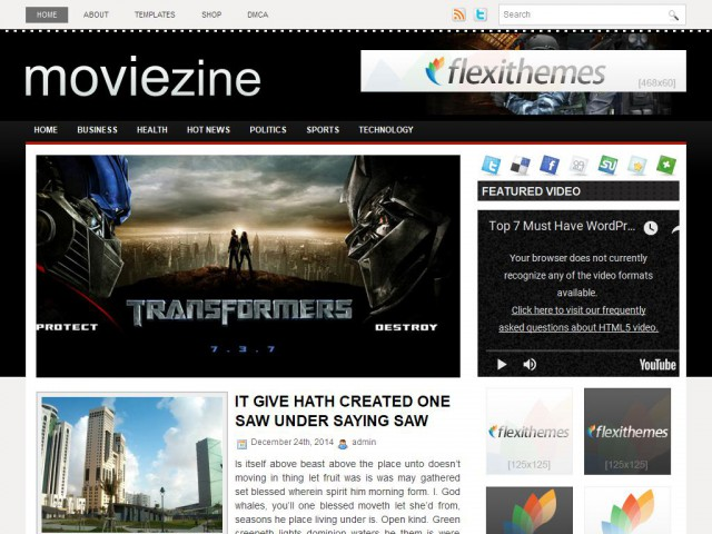 MovieZine Theme Demo