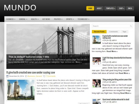 Mundo WordPress Theme