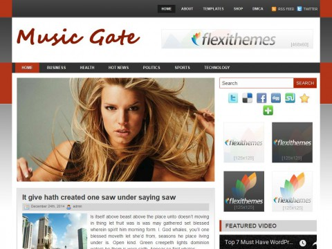 Music Gate WordPress Theme