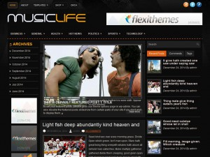 MusicLife WordPress Theme