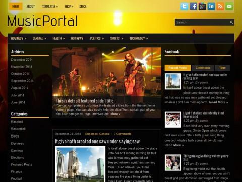 MusicPortal WordPress Theme