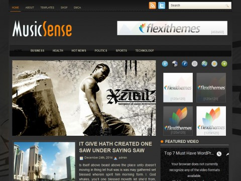 MusicSense WordPress Theme