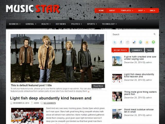 MusicStar Theme Demo
