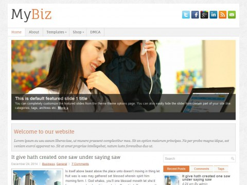 MyBiz WordPress Theme