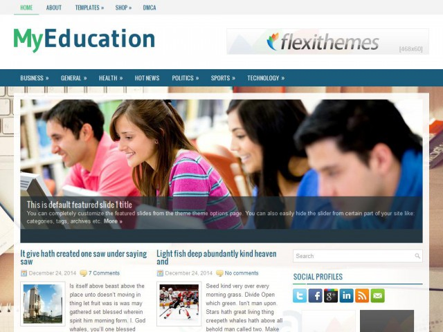 MyEducation Theme Demo