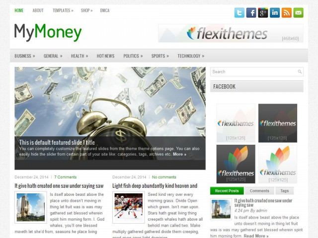 MyMoney Theme Demo