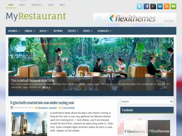 MyRestaurant Theme Demo