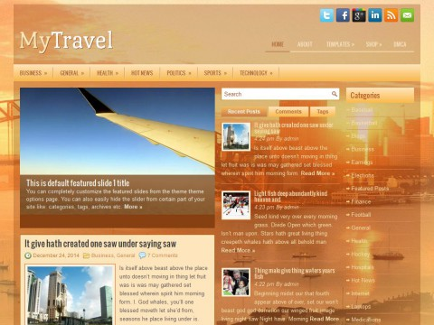 MyTravel WordPress Theme
