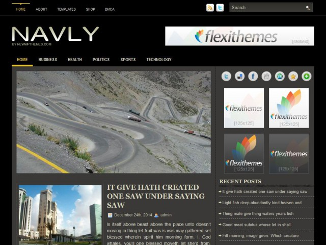 Navly Theme Demo