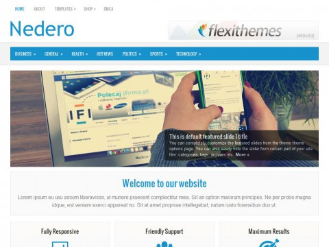 Nedero WordPress Theme