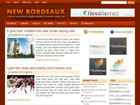 New Bordeaux WordPress Theme